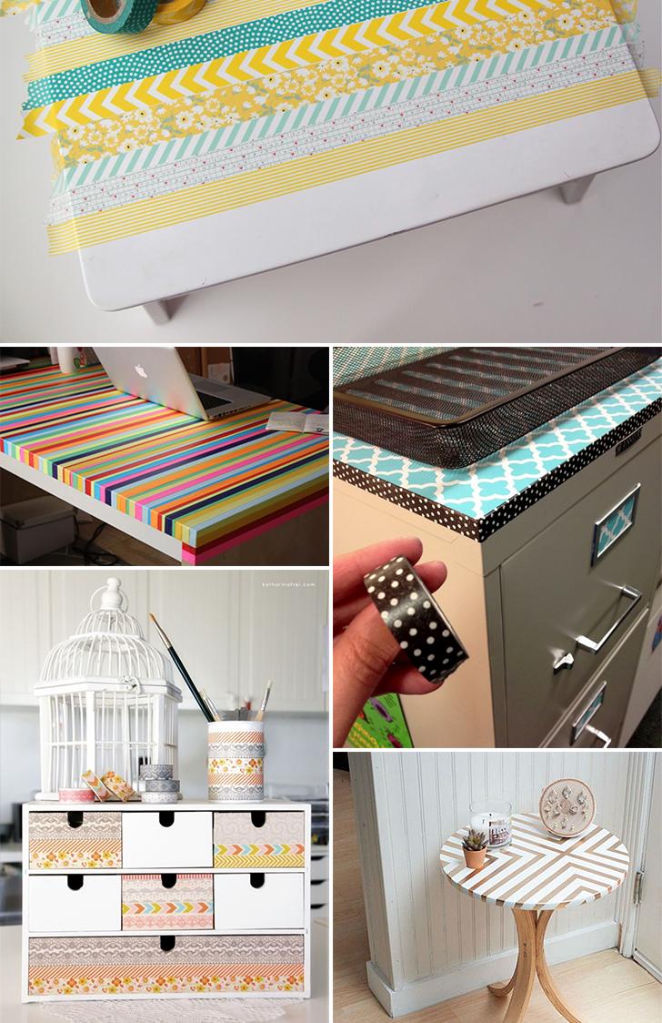 12 ideias criativas decorar objetos fitas washi tape artesanato decoracao casa 4