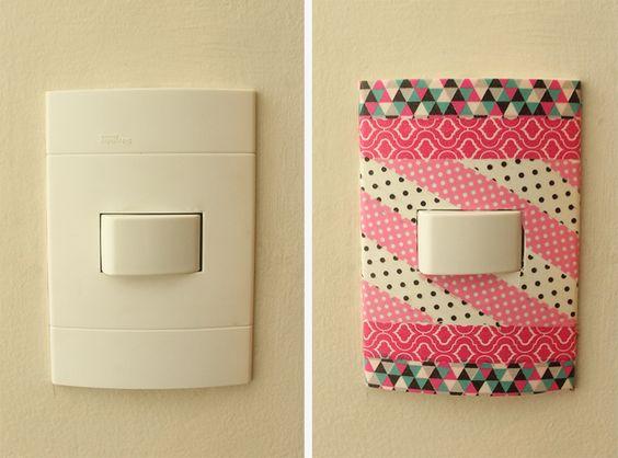 12 ideias criativas decorar objetos fitas washi tape artesanato decoracao casa 7